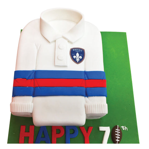 Rugby Shirt Cake - Last minute cakes delivered tomorrow!