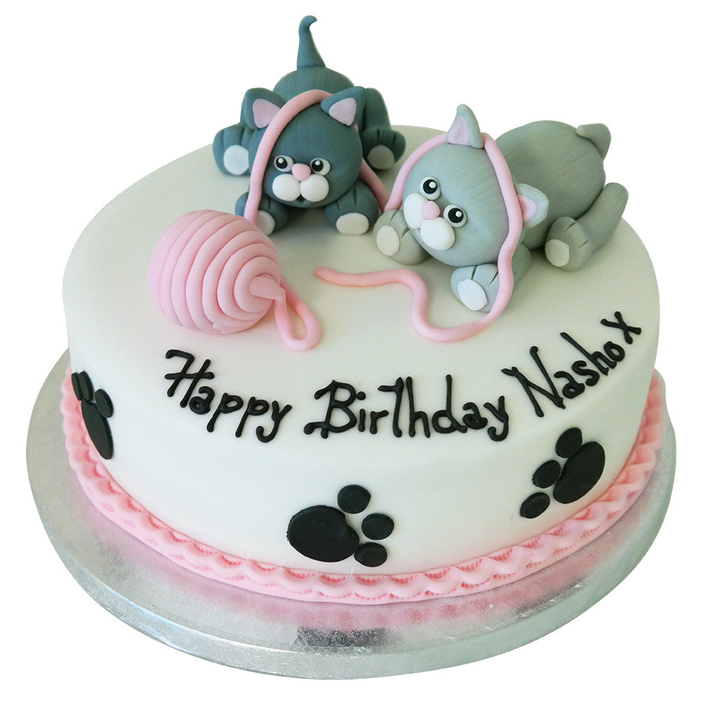 Cat Birthday Cake Buy Online Free Next Day Delivery New Cakes