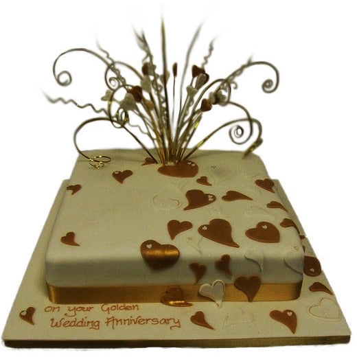 Gold Wedding Anniversary Cake Buy Online Free Uk Delivery New Cakes