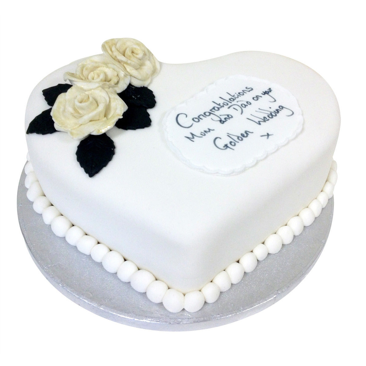 Gold Wedding Anniversary Cake - Buy Online, Free UK Delivery – New Cakes