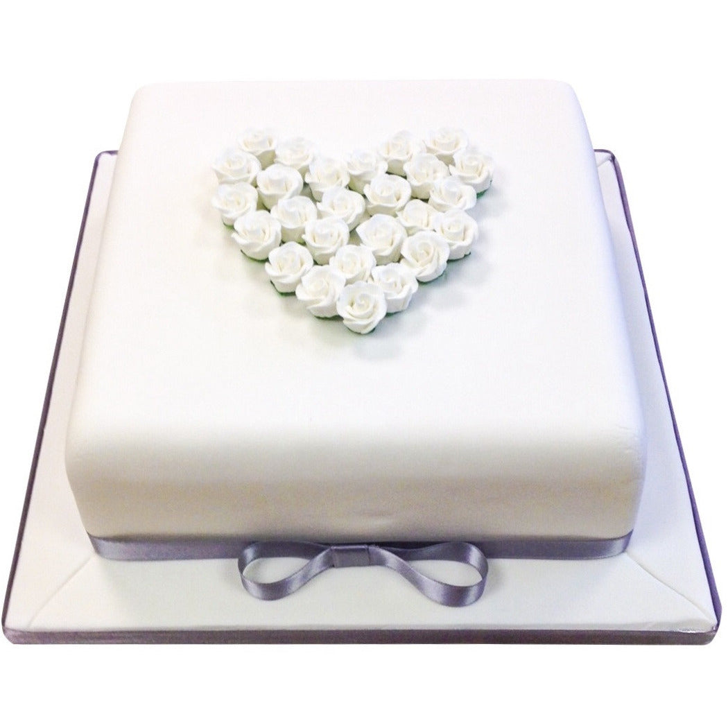Silver Wedding Anniversary Cake - Buy Online, Free UK Delivery – New ...