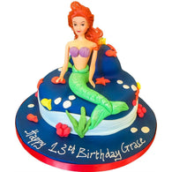 Ariel / Little Mermaid Cake - Last minute cakes delivered tomorrow!