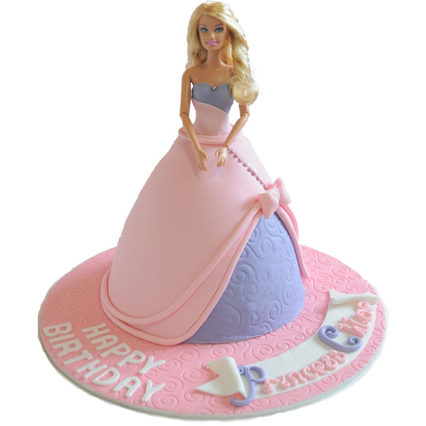 Barbie Cake Buy Online Free Next Day Uk Delivery New Cakes