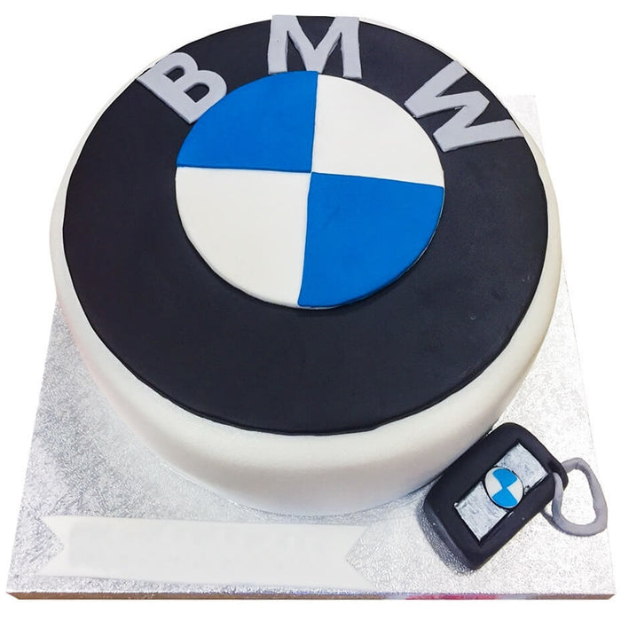 BMW Car Badge Cake - Last minute cakes delivered tomorrow!