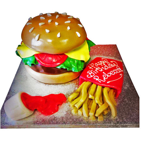 Burger Cake - Last minute cakes delivered tomorrow!