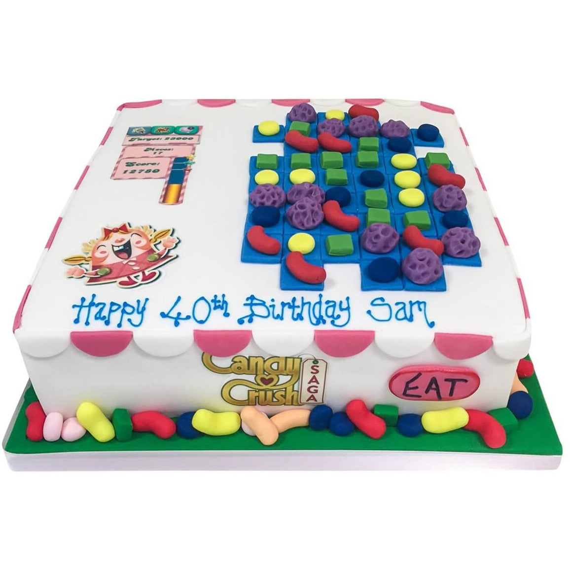 Terrific Candy Crush Birthday Cake Buy Online Free Uk Delivery New Cakes Birthday Cards Printable Opercafe Filternl