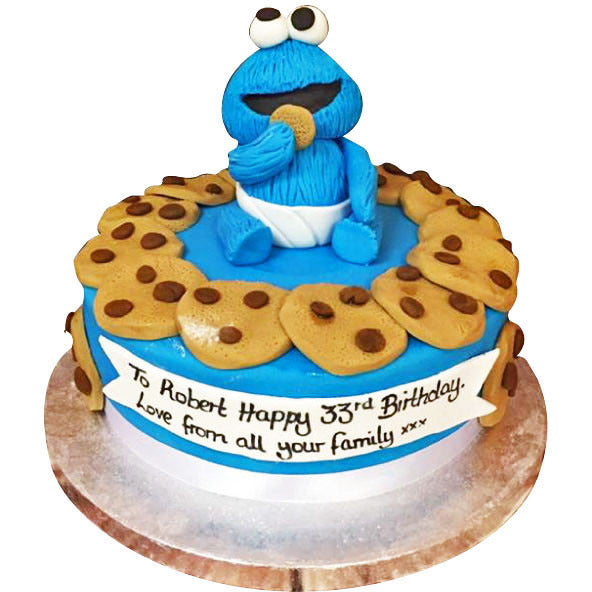 cookie monster cake cookie cake buy free uk delivery new cakes 3039