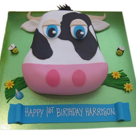 Cow Birthday Cake Buy Online Free UK Delivery New Cakes