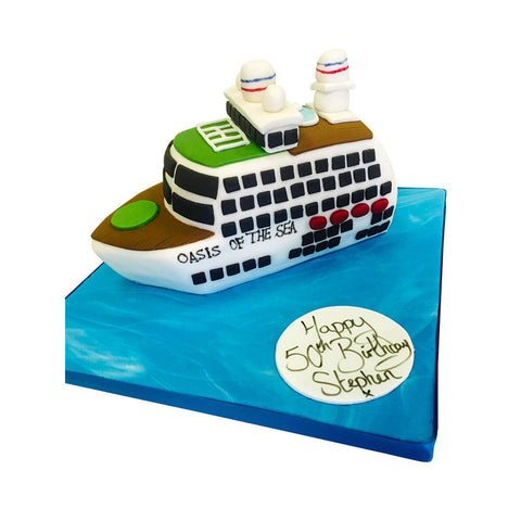 Cruise Ship Cake - Last minute cakes delivered tomorrow!