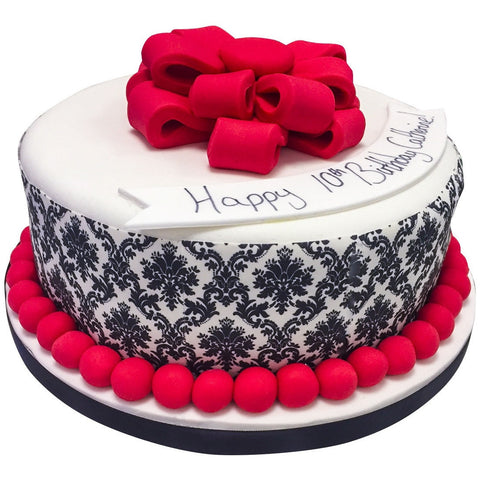 Damask Cake - Last minute cakes delivered tomorrow!