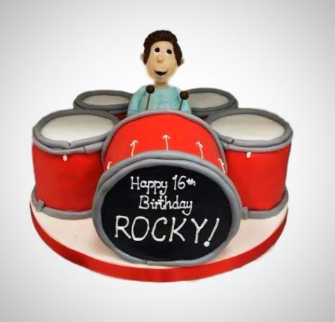 Pleasing Drum Kit Cake 109 95 Buy Online Free Uk Delivery New Cakes Funny Birthday Cards Online Bapapcheapnameinfo