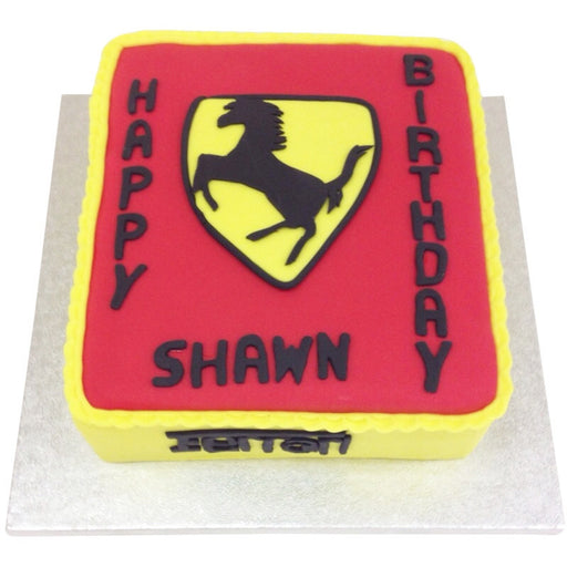 Ferrari Car Cake - Last minute cakes delivered tomorrow!