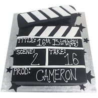 Film Clapper Board Cake