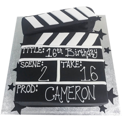Film Clapper Board Cake - Last minute cakes delivered tomorrow!