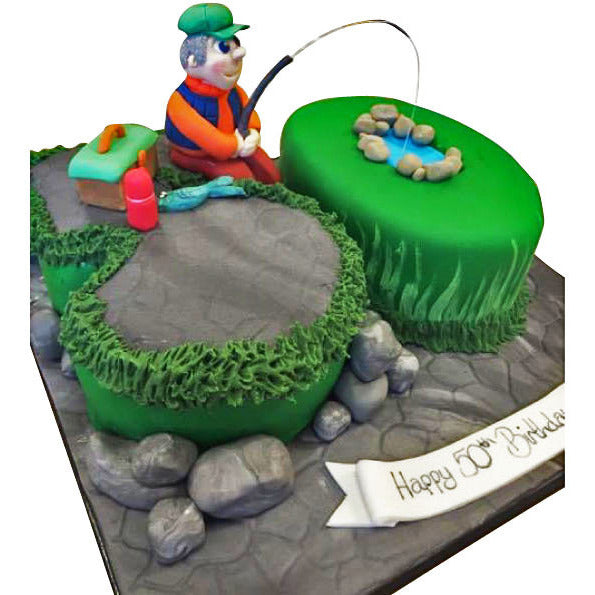 Fishing Cake Free Next Day Delivery New Cakes