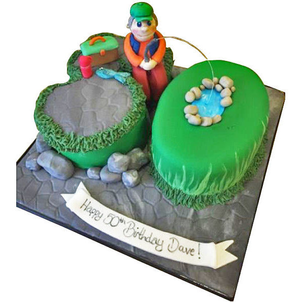 Swell Fishing Cake Free Next Day Delivery New Cakes Funny Birthday Cards Online Elaedamsfinfo