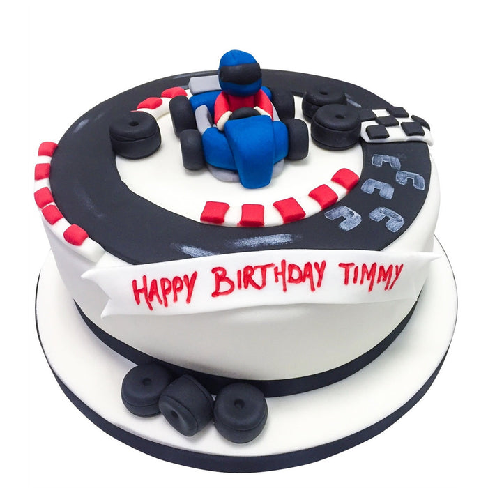 Go Karting Cake - Last minute cakes delivered tomorrow!