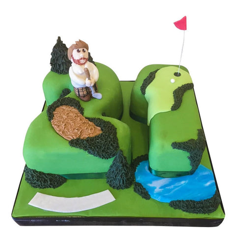 Golf Course Cake - Last minute cakes delivered tomorrow!