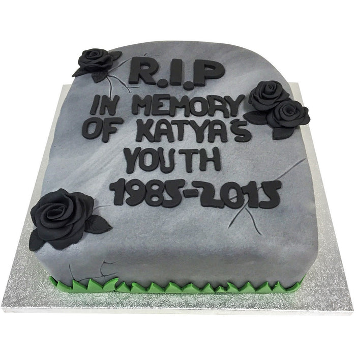 Gravestone Cake - Last minute cakes delivered tomorrow!