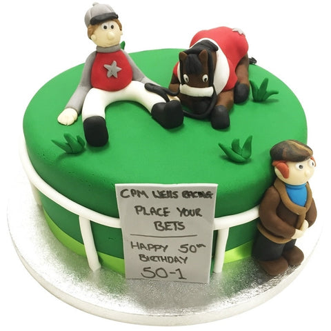 Horse Racing Cake - Last minute cakes delivered tomorrow!