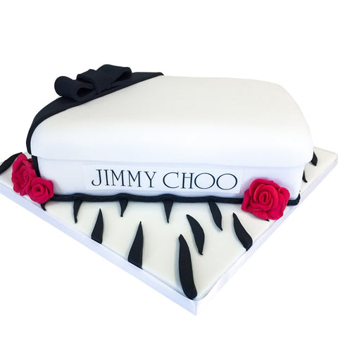 Jimmy Choo Box Cake - Last minute cakes delivered tomorrow!