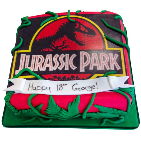 Jurassic Park Cake - Last minute cakes delivered tomorrow!