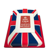 Keep Calm & Carry On Cake - Last minute cakes delivered tomorrow!