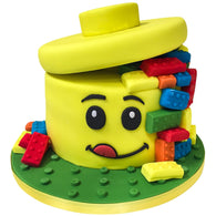Lego Head & Bricks Cake - Last minute cakes delivered tomorrow!