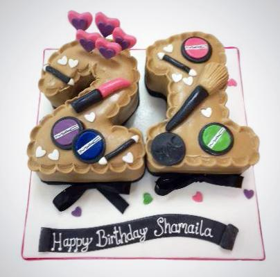 Groovy Mac Makeup Birthday Cake Buy Online Free Uk Delivery New Cakes Funny Birthday Cards Online Alyptdamsfinfo