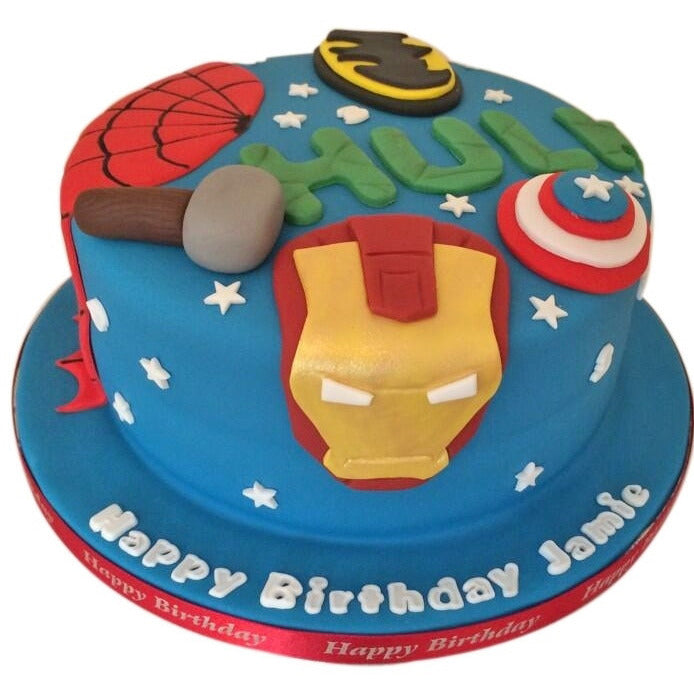 Fabulous Marvel Birthday Cake Buy Online Free Uk Delivery New Cakes Personalised Birthday Cards Veneteletsinfo