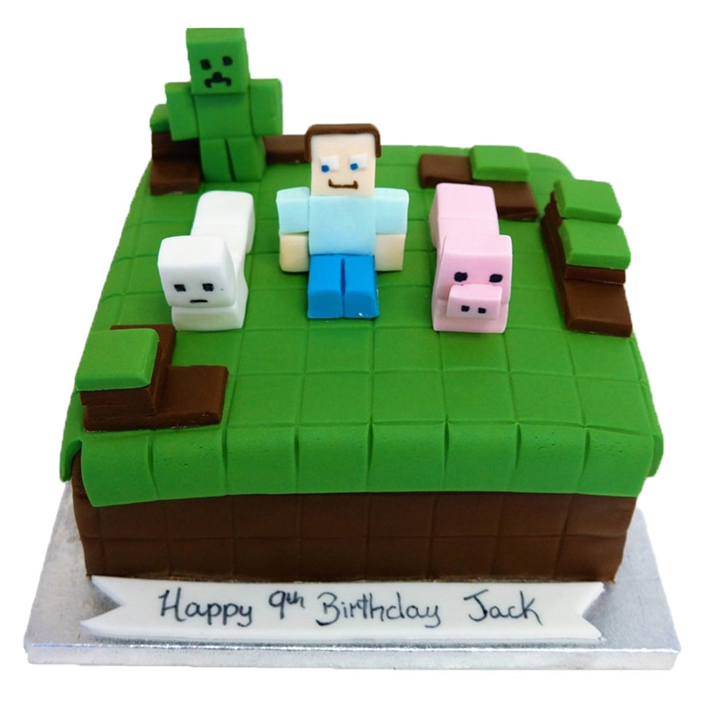 Girls Minecraft Birthday Cake