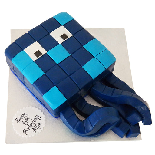 Minecraft Squid Cake - Last minute cakes delivered tomorrow!
