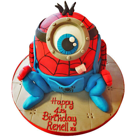 Minion Spiderman Cake - Last minute cakes delivered tomorrow!