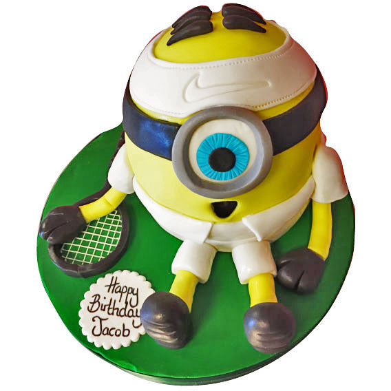 Pleasant Tennis Minion Cake Buy Online Free Next Day Delivery New Cakes Personalised Birthday Cards Veneteletsinfo