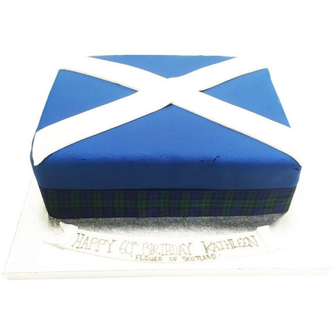 Scottish Flag Cake - Last minute cakes delivered tomorrow!
