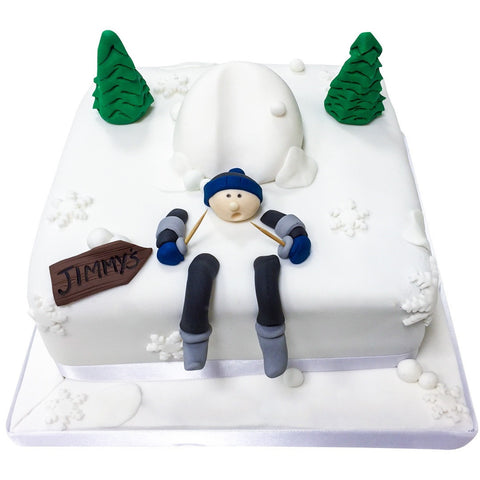 Skiing Cake - Last minute cakes delivered tomorrow!