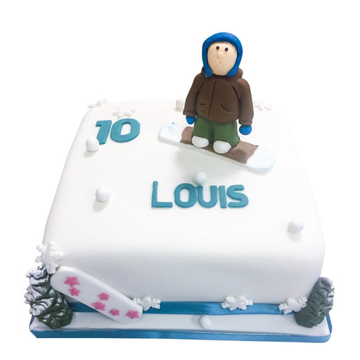 Snowboarding Cake - Last minute cakes delivered tomorrow!