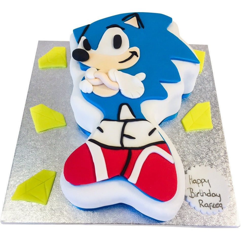Sonic The Hedgehog Cake Buy Online Free Uk Delivery