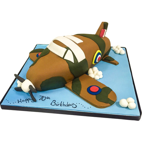 Spitfire Plane Cake - Last minute cakes delivered tomorrow!