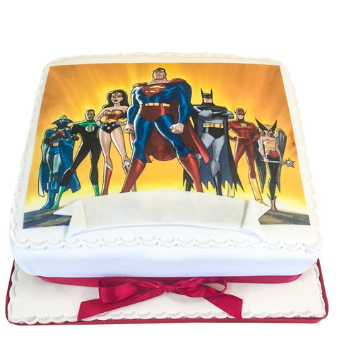Superheroes Cake - Last minute cakes delivered tomorrow!