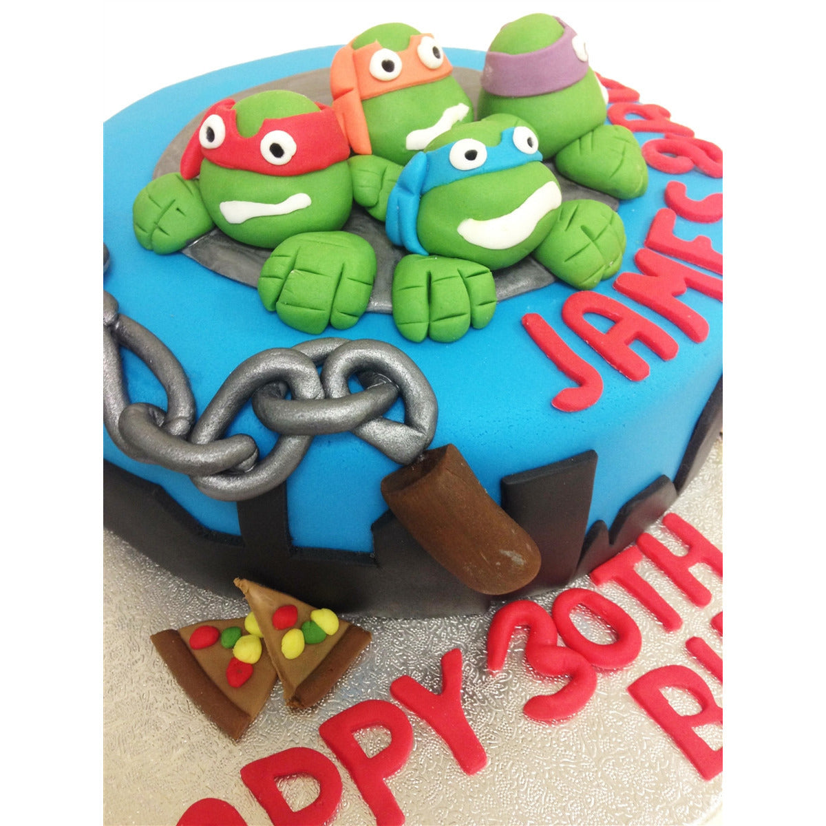 Surprising Teenage Mutant Ninja Turtles Cake Free Uk Delivery New Cakes Birthday Cards Printable Riciscafe Filternl