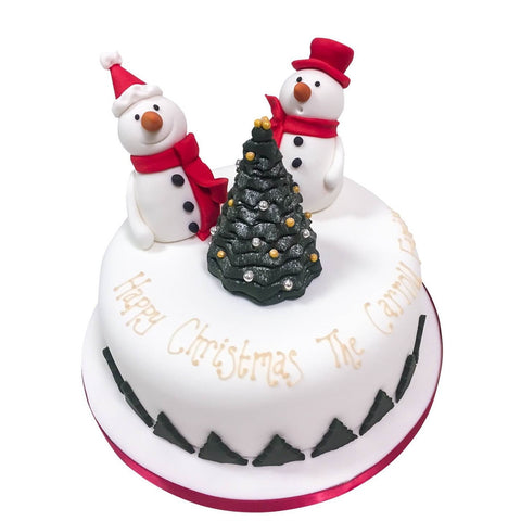 Christmas Snowmen Cake - Last minute cakes delivered tomorrow!
