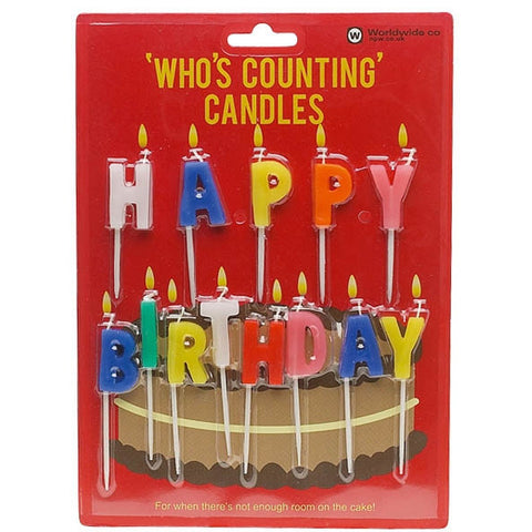 Happy Birthday Candles - Last minute cakes delivered tomorrow!