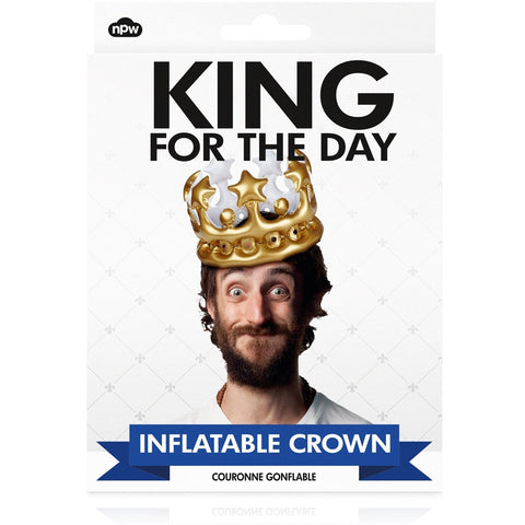 King For The Day Inflatable Crown - Last minute cakes delivered tomorrow!