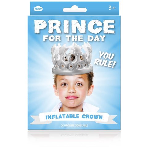 Prince For The Day Inflatable Crown - Last minute cakes delivered tomorrow!