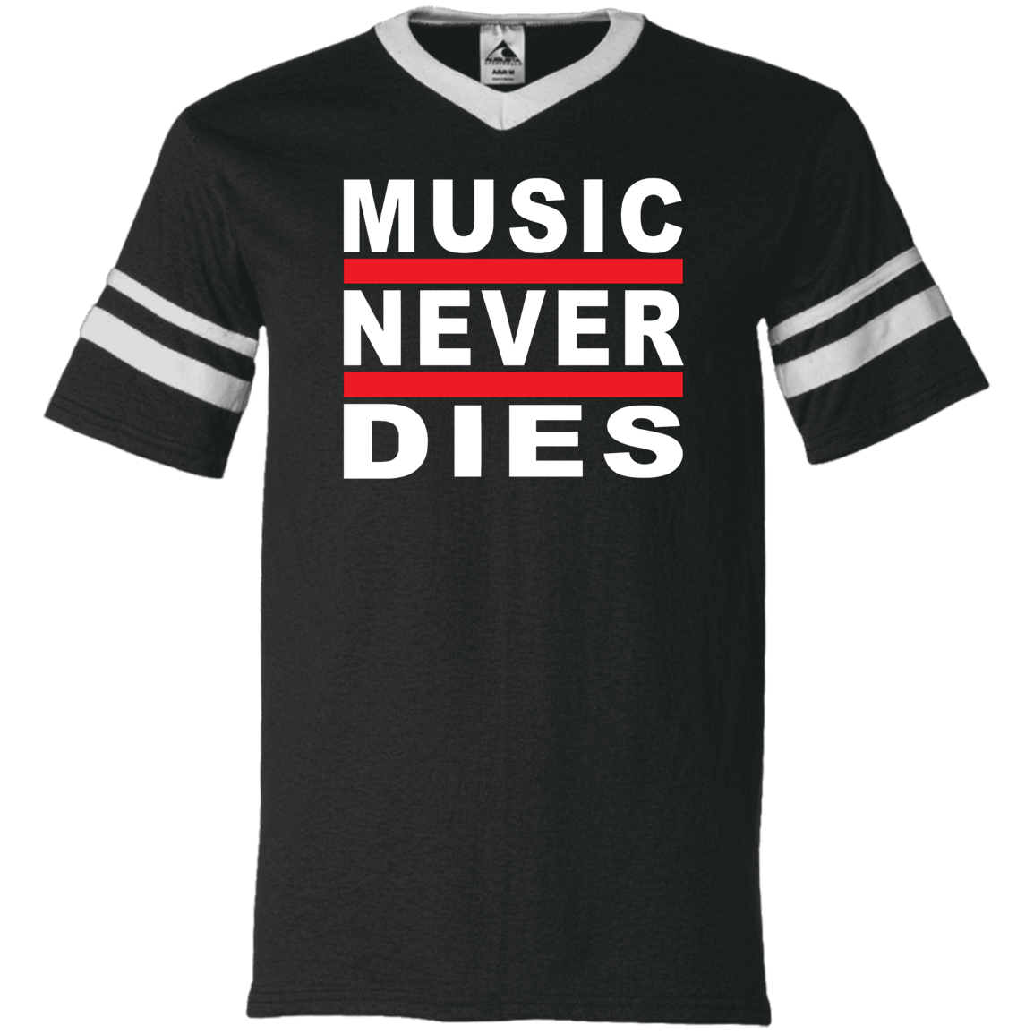Music Never Dies V-Neck Sleeve Stripe Jersey