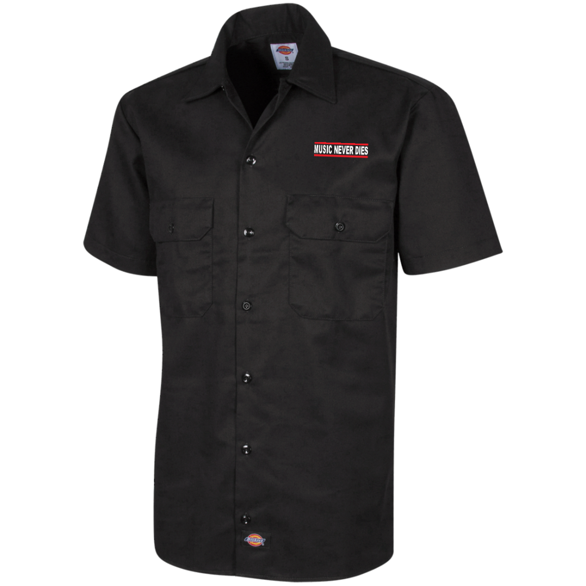 Dickies/Music Never Dies Men's Short Sleeve