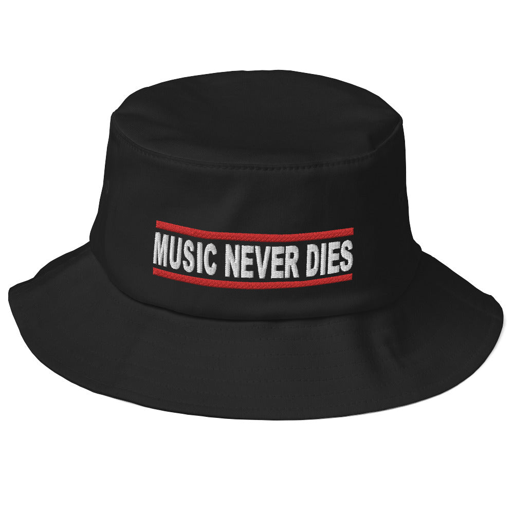 Music Never Dies Old School Bucket Hat