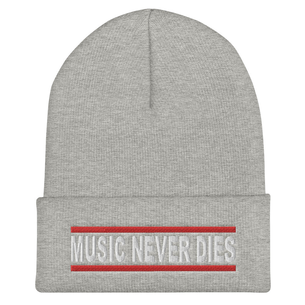 Music Never Dies Cuffed Beanie