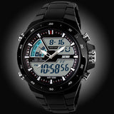50M Waterproof Mens Sports Watches Relogio Masculino 2016 Hot Men Silicone Sport Watch Reloj S Shockproof Electronic Wristwatch